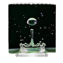 Green Drops Shower Curtain