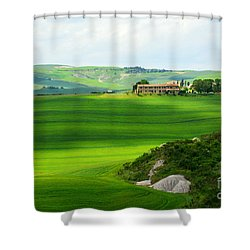 Green Escape In Tuscany Shower Curtain