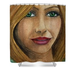Green Eyes Upclose Shower Curtain