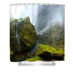 Green Falls Shower Curtain