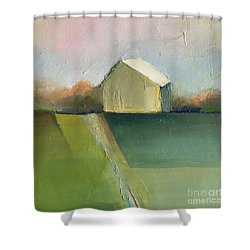 Green Field Shower Curtain