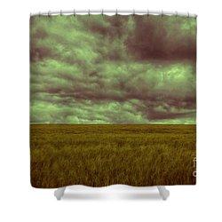Green Fields 3 Shower Curtain by Douglas Barnard