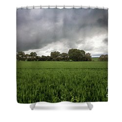 Green Fields 5 Shower Curtain by Douglas Barnard