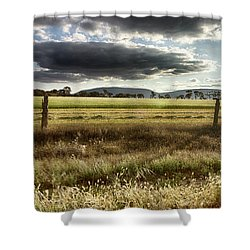 Shower Curtain featuring the photograph Green Fields 6 by Douglas Barnard