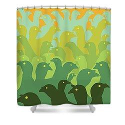 Green Fields Of Brookline Shower Curtain