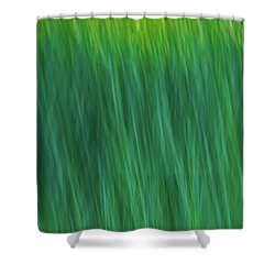 Green Fire 4 Shower Curtain