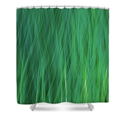 Green Fire 5 Shower Curtain