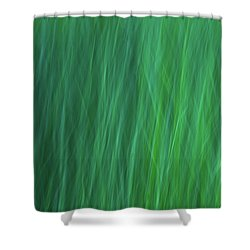 Green Fire 6 Shower Curtain