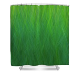 Green Fire 7 Shower Curtain