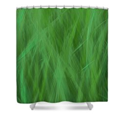 Green Fire 8 Shower Curtain