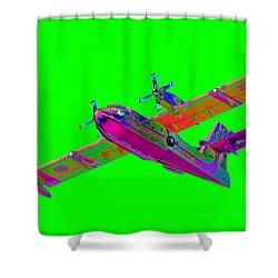 Green Fire Flight  Shower Curtain by Richard Patmore