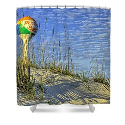 Green Flags On Pensacola Beach Shower Curtain