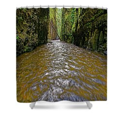Shower Curtain featuring the photograph Green Flow by Jonathan Davison