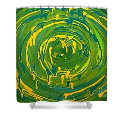 Green Forest Swirl Shower Curtain