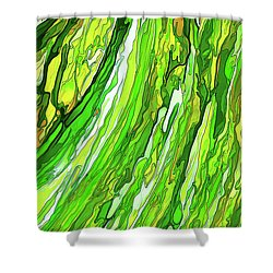 Green Garden Shower Curtain