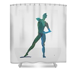 Green Gesture 2 Pointing Shower Curtain