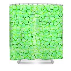 Green Giraffe Print Shower Curtain