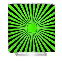 Shower Curtain featuring the digital art Green Harmony by Lucia Sirna