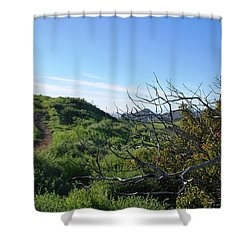 Shower Curtain featuring the photograph Green Hills And Bushes Landscape by Matt Harang