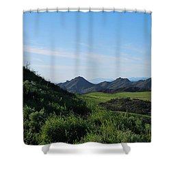 Shower Curtain featuring the photograph Green Hills Landscape by Matt Harang
