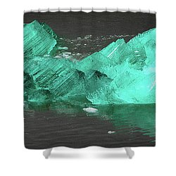 Green Iceberg Shower Curtain