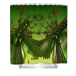 Green Insects  Shower Curtain by Melissa Messick