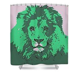 Green King Shower Curtain