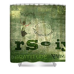 Green Knowings Shower Curtain