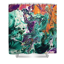 Green Lagoon Shower Curtain