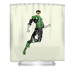 Green Lantern Shower Curtain
