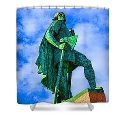 Green Leader Shower Curtain