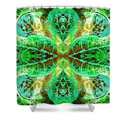 Shower Curtain featuring the photograph Green Leafmania 3 by Marianne Dow