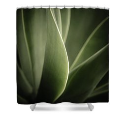 Shower Curtain featuring the photograph Green Leaves Abstract by Marco Oliveira