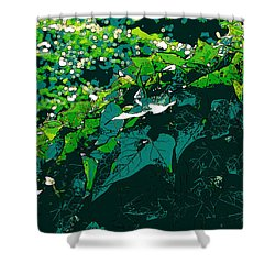 Green Leaves Shower Curtain by John Rossman