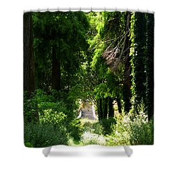 Green Lombardy Shower Curtain