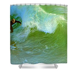 Green Machine Shower Curtain by Everette McMahan jr