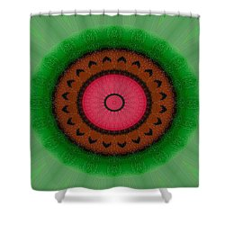 Shower Curtain featuring the drawing Green Mandala Painting By Sariblle by Saribelle Rodriguez