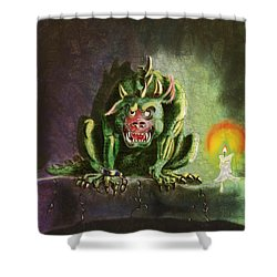 Green Monster Shower Curtain
