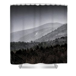 Green Mountains - Vermont Shower Curtain by Brendan Reals