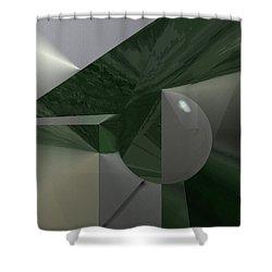 Green N Gray Shower Curtain