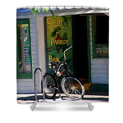 Green Parrot Bar Key West Shower Curtain by Susanne Van Hulst