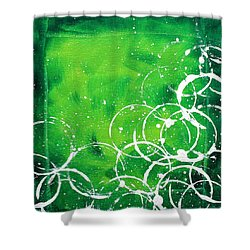 Green Riches By Madart Shower Curtain by Megan Duncanson