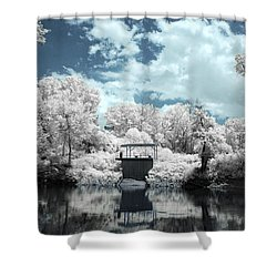 Green River Ir Shower Curtain by Amber Flowers