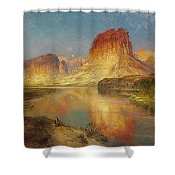 Green River Of Wyoming Shower Curtain by Thomas Moran