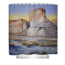 Green River Wyoming Shower Curtain