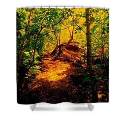 Green Silence Shower Curtain