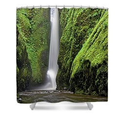 Shower Curtain featuring the photograph Green Slot Canyon by Jonathan Davison