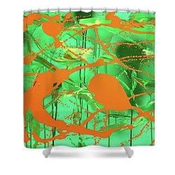 Green Spill Shower Curtain