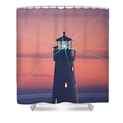 Shower Curtain featuring the photograph Green Star by Lora Lee Chapman