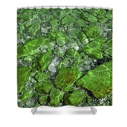 Shower Curtain featuring the photograph Green Stone Waters by LeeAnn McLaneGoetz McLaneGoetzStudioLLCcom